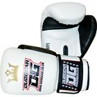 WHITE 'RAJA' SPARRING PADWORK FOR MUAY THAI TRAINING AND FIGHTING GLOVES