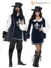Mens Ladies Medieval Musketeer Fancy Dress Costume Couples Outfit Historical