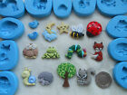 Sugarcraft/Fimo Mould: NATURE GARDEN Tree Bird Bugs Insect Animal Sky Cloud Star
