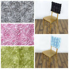 10 pcs SATIN RIBBON ROSES Square CHAIR CAP COVERS Wedding Reception Party Supply