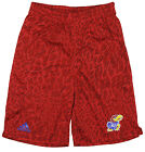 Adidas NCAA College Youth Boys Kansas Jayhawks Crazy Light Basketball Shorts,Red
