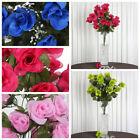 96 Extra Large Silk Roses Buds Bushes Wedding Flowers Arrangements Decorations