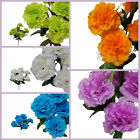 "84 3.5"" Large Silk CARNATIONS 12 Bushes Wedding Flowers Arrangements Decorations"