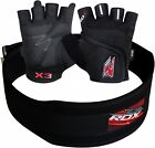 RDX Weight lifting Training Back Gym Strap Bodybuilding gloves Belt Support B AU