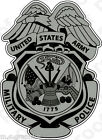 STICKER US ARMY Military Police Badge