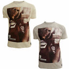 Crosshatch Red Linsday Mens New Graphic Girl Print Casual Summer T-Shirt Tee Top
