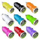 Color Dual 2 Port USB DC Car Charger 2.1 + 1 Amp For Cell Phones Tablets iPods