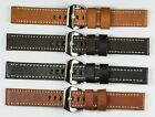 QUALITY THICK Genuine leather watch strap , brown black tan 18mm 20mm 22mm 24mm