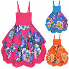 Girls Floral Dress Kids Summer Sundress Beach Party Dress New Age 3 -10 Years