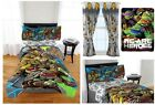 KIDS BOYS TEENAGE MUTANT NINJA TURTLES BED IN A BAG / COM...