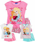 Girls Disney Frozen Pyjamas Elsa Anna Short Sleeve Pjs Set New Age 4 - 10 Years