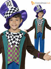 Boys Deluxe Mad Hatter Costume Kids Book Week Fancy Dress Alice Wonderland