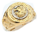 Fashion Gold Woman Men's 19mm Band Ring Cool Lion Eagle Star 18KGP Size 10-12.5