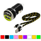 Noodle Rope Braided Sync Usb Data Cable 3ft+fast Charging Car Charger For Iphone