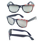 New US USA Red July 4th Wayfarer Patriotic Mirror Lens American Flag Sunglasses