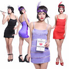 Sexy 6 Layers Brace Halter Flapper Dress 20s Vintage Retro Nightclub Costume