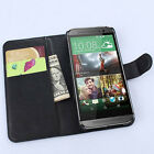 Book Flip Wallet stand Leather Case cover For HTC one M9 (7 Colors) a