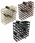 RTA 42 Bottle Traditional Wooden Wine Rack Dark / Natural / Black Ash Pine