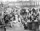 1899 Coney Island Swimming at Beach New York Photo Largest Sizes