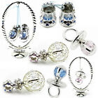 CRYSTAL ORNAMENTS SWAROVSKI ELEMENTS SILVER PLATED DIAMOND BABY CHRISTENING GIFT