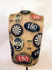 DARTS DESIGN WACKY WAISTCOAT FUN & FANCY L&S PRINTS DART BOARD BEER LABEL