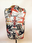ENGLAND ST GEORGES DESIGN WACKY WAISTCOAT FUN & FANCY L&S PRINTS ENGLISH ROSE