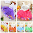 Toddler Baby Kids Newborn Girls Princess Party Tutu Lace Bow Flower Dresses