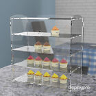 Acrylic Bakery Pastry Display Case Stand Cabinet Cakes Donuts Cupcakes Pastries <br/> 1,2,3 or 4 Tier Options Available! UK Manufacturer!