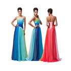 Sexy Chiffon Evening Formal Party Ball Gown Prom Wedding Dresses 6 8 10 12 14 16