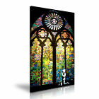 BANKSY Stained Glass Prayer Graffiti Canvas Wall Art Print Framed Box ~ 9 Size