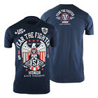 Fear The Fighter World Blood Lines USA T-Shirt (Blue) - mma ufc bjj