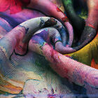Multicolor Cashmere Wool Shawl/Wrap Leaves Floral Oil Painting Scarves | FJUS