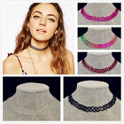 Retro Vintage Gothic Punk Style Stretch Tattoo Choker Necklace Elastic 80s 90s