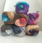 ALIZE LANAGOLD BATIK OMBRE SELF STRIPING WOOL BLEND ARAN WOOL CROCHET YARN 100G