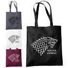 Winter is Coming Shopper Tote Bag Jon Snow Thrones Inspired GAME of Fashion Bags