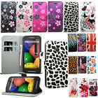 Floral Flower Wallet Leather Case Cover For Motorola Moto Various Phone Models