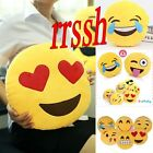 iPhone Emoji Smiley Emoticon Yellow Round Cushion Pillow Stuffed Plush Soft Toy
