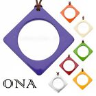 ONA Handmade LAGENLOOK Water Buffalo HORN & LACQUER Large PENDANT Q10878 COLORS