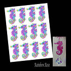 Transparency #70 SEAHORSE 70mm RAINBOW PINK UN-CUT 2, 4, 8 suncatcher CRAFT film