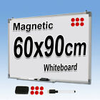 NEW 2 SIZE MAGNETIC DRY WIPE WHITE BOARD NOTICE PENS ERASER 90 x 60CM/120 x 90CM