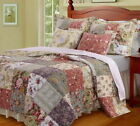 5pc FRENCH COUNTRY COTTAGE Patchwork Cotton QUILT SET Twin Full/Queen King SET