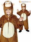 Age 4-9 Kids Cheeky Monkey Onesie Childrens Fancy Dress Costume Book Week Boys