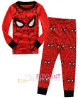 Spiderman Children Kids Boys Nightwear Outfit Top + Trouser Sleepwear Pajama 2-7