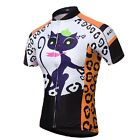 Yellow Women's Cycling Clothing CAT GIRL Bike Bicycle Short Sleeve Jersey Top