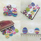 20/50/100Pcs Bulk Stylish Cute Easter eggs Sewing Buttons Scrapbooking 2 Holes