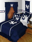New York Yankees Comforter Sham Bedskirt Curtains Valance Twin to King Size