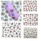 3D Nail Art Stickers Valentines Style Tips Decals Love Heart Flower Design New
