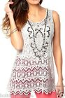NEW LADIES WOMANS IVORY LACE SEXY SUMMER EVENING BEST TOP TUNIC SIZE 10-20