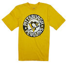 NHL Hockey Youth Boys Pittsburgh Penguins Vintage Tee - Yellow