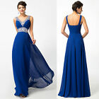 2015 NEW BEADED Long Maxi Evening Dresses Formal Party Ball Gown Prom Bridesmaid